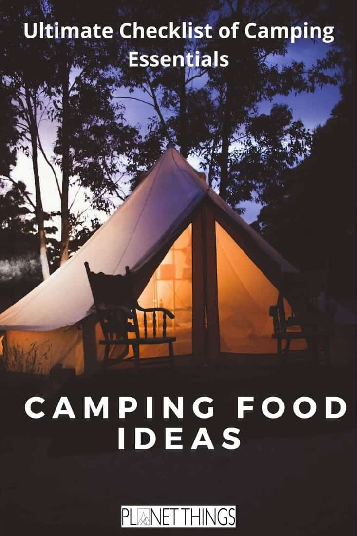 To make the most out of your adventure, here it is a compact but effective list comprising a few camping food ideas! Pack like a Pro! #camping #wildcamping #campingfood #campingfoodideas #foodideas #campingpack #campingpacking #campingkit #campingkitlist #campingfoodlist