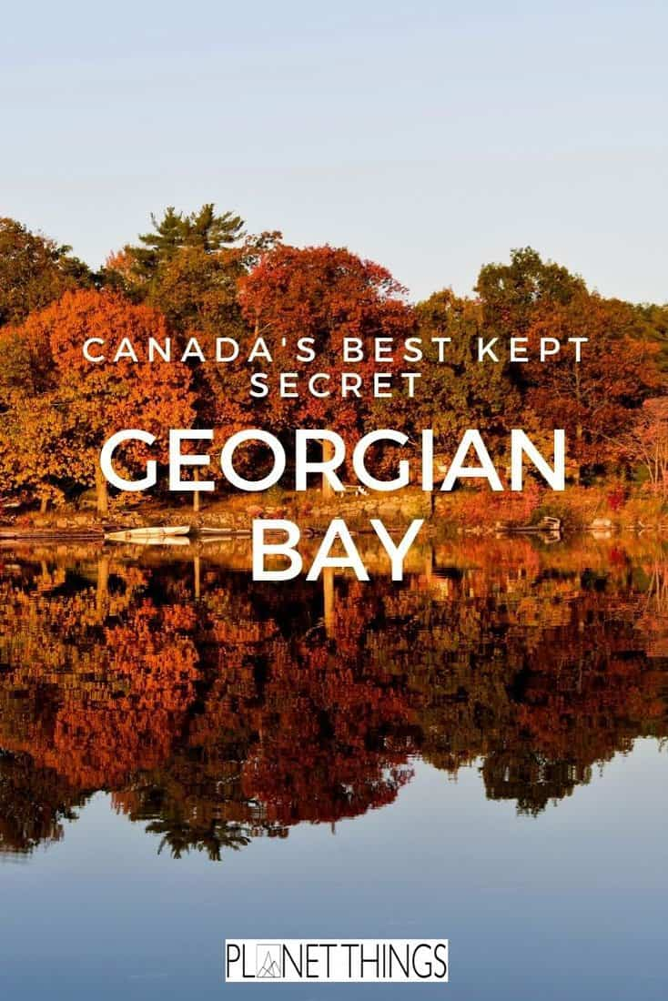 Georgian Bay, Ontario, is a top holiday destination offering incredible natural beauty, majestic cliffs and clear blue water #georgianbay #ontario #georgianbayontario #greatlakescanada #canadatravel #canadaguide #greatlakestravelguide #northamericatravel #travelblog