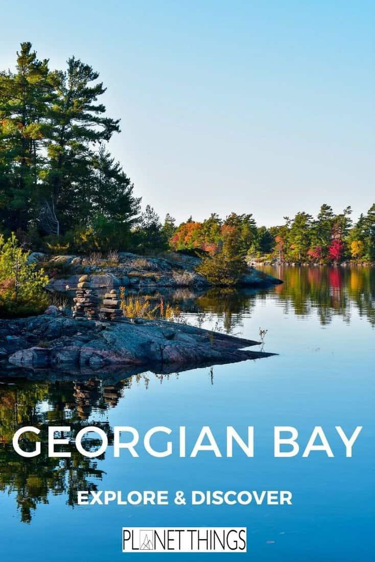 Georgian Bay, Ontario, is a top holiday destination offering incredible natural beauty, majestic cliffs and clear blue water #georgianbay #ontario #georgianbayontario #greatlakescanada #canadatravel #canadaguide #greatlakestravelguide #northamericatravel #travelblog