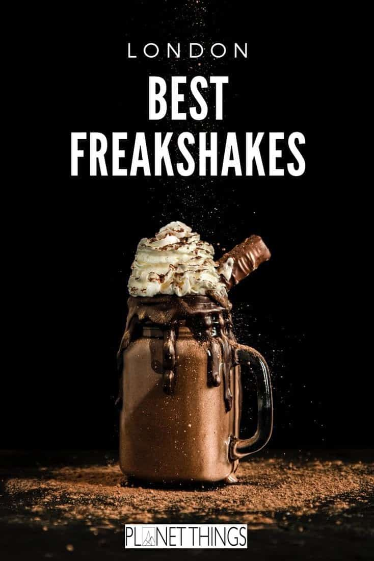 Freakshakes: The latest trend, ultimate food porn and Insta Worthy drink originally from Australia. Here is a list of the best freakshakes in London #freakshakes #bestfreakshakes #foodporn #milkshakes #foodblog