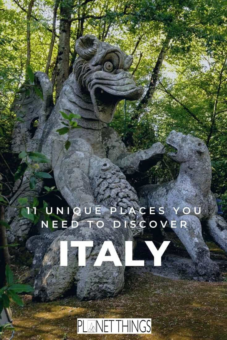 Discover Italy off-the-beaten-track, a list of unusual and unique places to visit in Italy: 11 Hidden Gems you need to discover. #italygems #unusualplacesinitaly #strangeitaly #uniqueitaly #bestitaly #discoveritaly